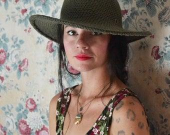 Wide Brim Hat | Cotton Hat | Hats for Women | Large brim Hat | Folk Fashion accessories | Horseback riding Hat | Hiking Hat | MadeinUSA