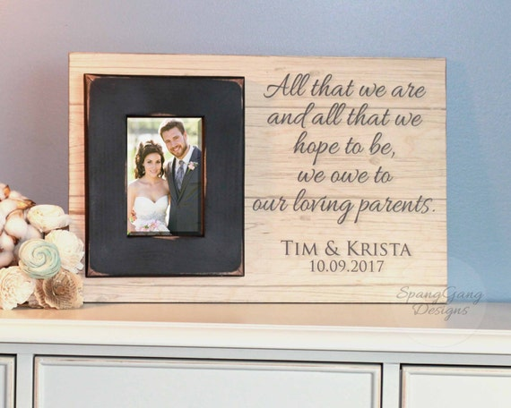 wedding gift for parents of the bride groom father of the groom