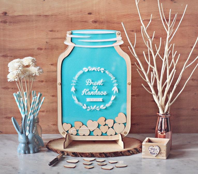 Mason Jars At Weddings: Mason Jar Wedding Guest Book Alternative Size 2 By