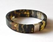 Amber Men Bracelet / Dark Brown Amber Jewelry / Silver Sterling Amber For Him / Gift For Men