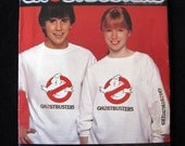 Vintage Butterick Ghostbusters T-shirt pattern #997 with 5 transfers