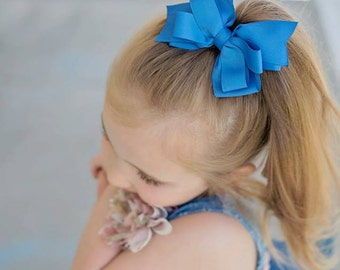 Back to School Bow - Back to School Hairbow - Girls Hair Bows - Hair Bows for Girls - Hair Bow Clips - Big Hair Bow for Toddlers - Hair bows