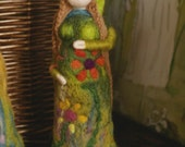 pregnant woman - earth mother - figurine - needle felted - waldorf - steiner