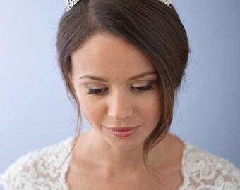 Vintage Wedding Crown, Antique Bridal Tiara, Rhinestone Wedding Tiara, Crystal Bridal Crown, Bridal Hair Accessory, Princess Tiara ~TI-3297