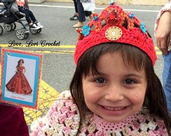 Elena of Avalor, Elena of Avalor costume, Elena of Avalor Tiara, princess tiara, princess crown, crochet tiara