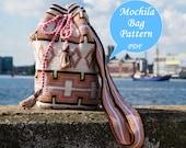 Mochila bag pattern, Tapestry crochet pattern, Medium size Mochila bag, Digital PDF pattern, English and Dutch, Instant download