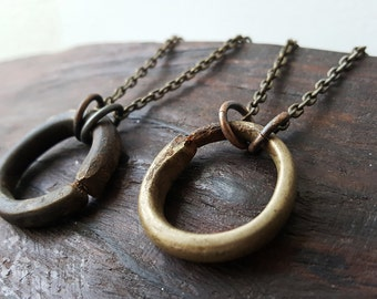 Antique African Ring Necklace - The Premium Series I