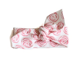 SALE || Baby Headband || Organic Cotton Headband || English Rose