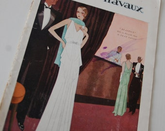 Vintage Fashion Magazine French 1930's Modes et Travaux no. 262 Sewing and Knitting