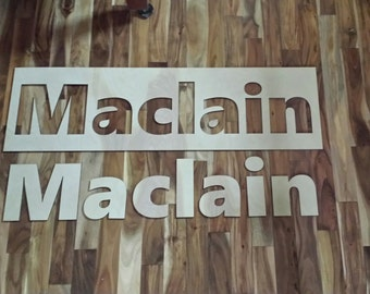 Wood Name Sign, Nursery Decor, Wedding Signs, Wooden Letters, Home Decor, Wood sign, Personalized Gifts, Baby Names, name banner, unfinished