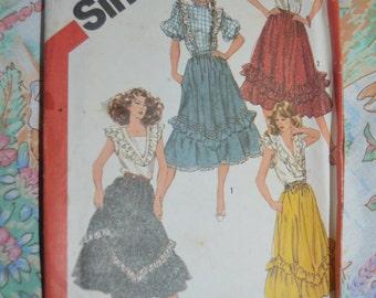 Simplicity 5819  Misses Flounce Skirts Sewing Pattern - UNCUT - Size 12  Waist 26 1/2