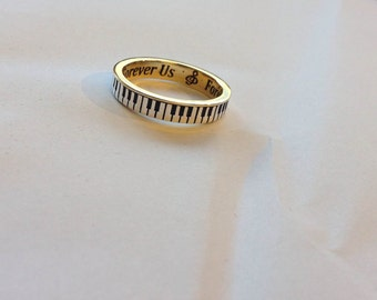 Piano Ring 9ct 4mm wide