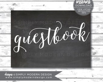 guestbook sign, wedding sign, guestbook, chalkboard sign, wedding signage, baby shower, bridal shower, sign our guestbook,  instant download