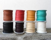 """Deerskin Lace, 1/8"""" Deerskin Leather Lace By the Yard, 3 Feet x 3mm, Leather Cord for Necklaces, Jewelry and Beads, Real Leather Supplies"""