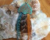 Art Noveau Feather Earrings