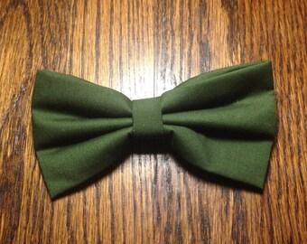 Dark Green Hair bow