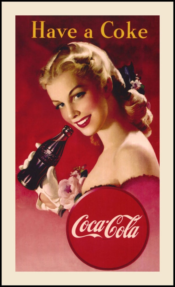 Favoloso Have a Coke - Vintage Coca Cola Pin Up Advertisement 6x11 Fabric  VI77