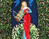 Goddess Painting Goddess Art Goddess Illustration Diana Artemis Ancient Roman Ancient Greek Woman Mythical Medieval Renaissance Style Pretty