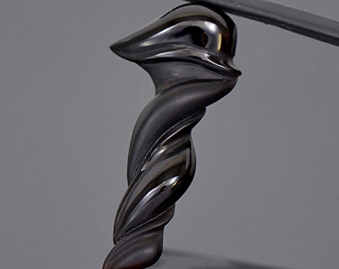 UPRISING SALE! Elegant Hand Carved Black Onyx Stone from Brazil 10.53 cts.