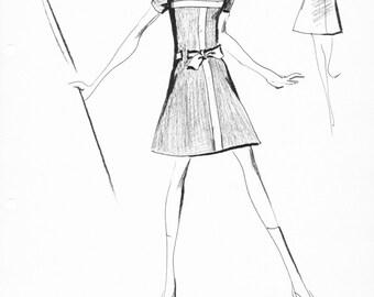 House of Courreges Original Vintage Fashion Sketch Stat Sheet 752