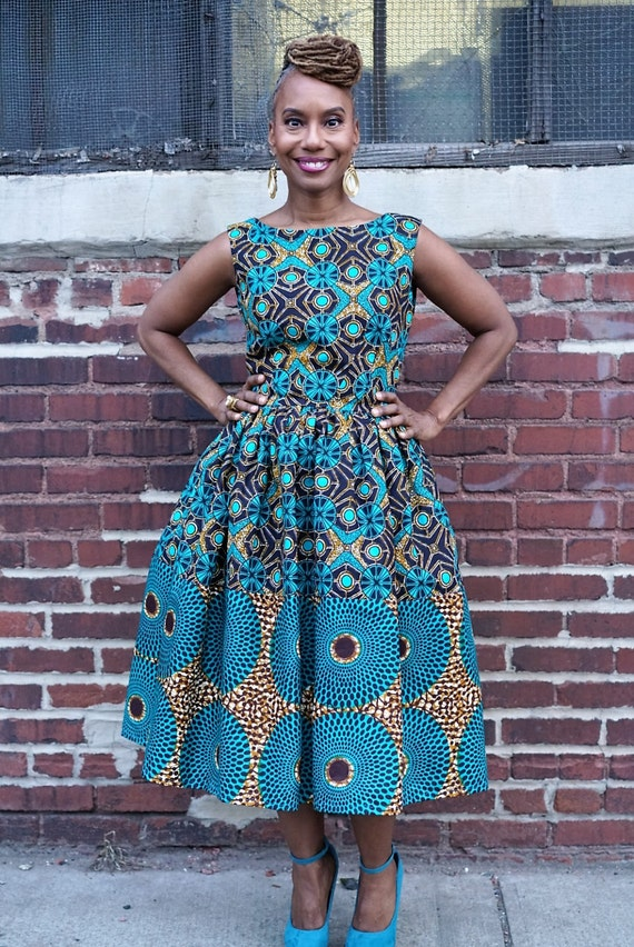 Remix Michelle O. Dress made from African Dutch Wax The M A