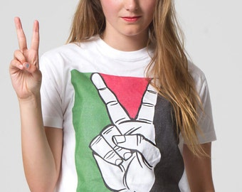 Free Palestine White Political T-shirt from our New Carlos Latuff Collection