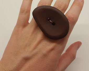 Stone Button Ring