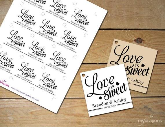 Printable Love is Sweet Tags // DIY Printable Wedding Favor