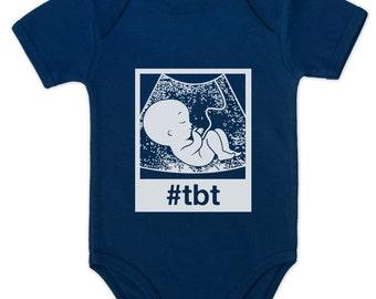 ThrowbackThursday #tbt Ultrasound Baby Short Sleeve Onesie Bodysuit