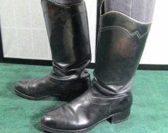 Black Hussar Boots, Napoleonic, Equestrian, Officer Uniform