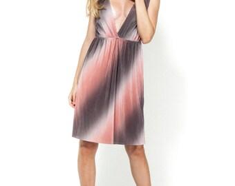 Peach maini dress / Open back dress / Evening dress / mini dress / peach dress