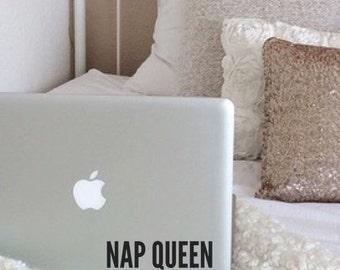 Nap Queen 5 - Laptop Decal - Macbook Decal - Laptop Sticker - Macbook Sticker - Car Decal - Car Sticker - Nap Queen - Nap Decal Nap Sticker