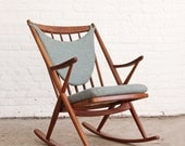 Frank Reenskaug Danish Modern Teak Rocking Chair