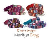 Dog leash Colorful Navajo Ikat Tribal Southwestern South American pet leash for girl dogs  and boy dogs Christmas gift for dog lover
