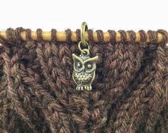 Owl Stitch Markers, Owl Charm Stitch Markers, Knitting Stitch Markers, Owl Charm, Stitch Marker Set, Owl Stich Marker Set