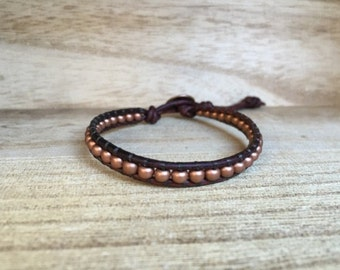 Copper Single Wrap Bracelet