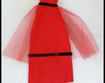 Vintage Handsewn Barbie Evening Dress