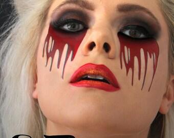 Sugar skull calavera temporary costume tattoos by sugartats for Halloween makeup tattoos