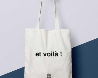 """Tote bag french """"et voilà"""", custom bag, market bag"""