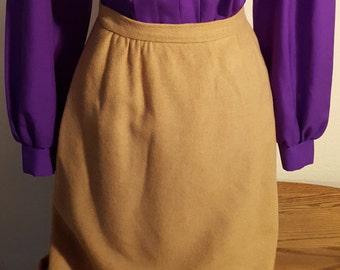 Camel Hair Pencil Skirt Size 6