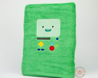"""Adventure Time """"BMO"""" Inspired - Embroidered Bath Towel"""