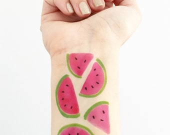 Watermelon - 5 Temporary Tattoos