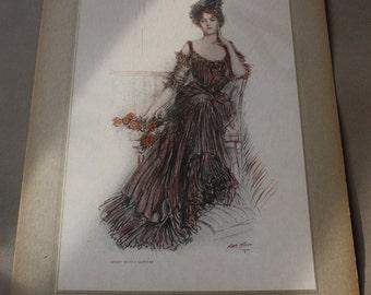 "Albert Sterner's ""American Beauties"" Collier's Weekly 1905 Antique Edwardian Artist's Proof"