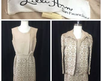 RESERVED for Mary Susanah Smith*  Vintage 1960s Lilli Ann Wrap Dress with Jacket.