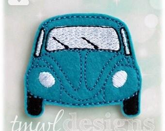 "VW Bug Feltie Digital Design File - 1.75"""