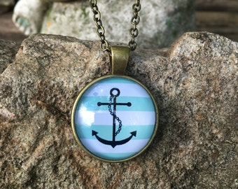 Anchor  Necklace ~ Reiki Infused