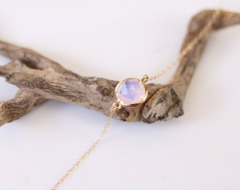 Opal Bracelet - Charm Bracelet - Gemstone Bracelet - Gold Bracelet - Stone Bracelet - Arm Candy - Violet Opal Jewellery - Stacking Bracelet