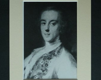 Horace Walpole Print, Whig Politician Decor, Available Framed, Politics Art, Rosalba Carriera Gift Rococo Portrait British Political History