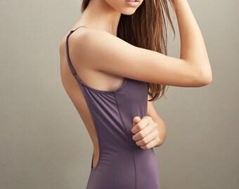 ON SALE-One piece swimsuit-open back swimsuit-sexy swimsuit-swimwear-swimsuit-open back bathing suit-one piece bathing suit//purple swimsuit
