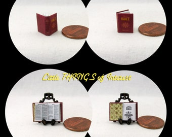 1:24 Scale CATHOLIC BIBLE Miniature Book Dollhouse Book Half Scale